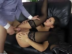 Stocking Honey Lara Braun Hets Fucked Rectally
