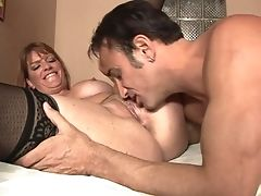 Dark-haired Tart Robbye Bentley With Thick Hooters Is Nosey About Oral Bang-out With Hard Cocked Dude