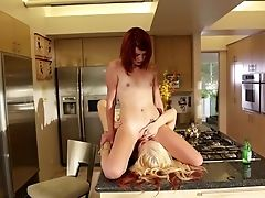 Sandy-haired Elle Alexandra And Ash Hollywood Fulfill Their Sexual Desires Together In Doll-on-chick Act