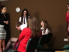 Female Dom Cfnm Educator Lower Dude In Class
