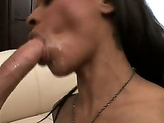 Gorgeous Dark-haired Skank Porsha Carrera Loves To Suck On Chad Diamond's Big Stiff Meat Pole