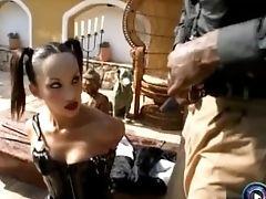 Sexy Asian Katsumi Gagging On A Big Black Cock