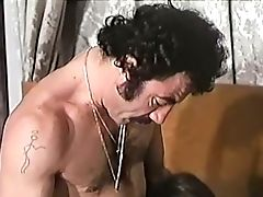 Exquisite And Old School Black-haired Dame Having Lovemaking With Her Hairy Man