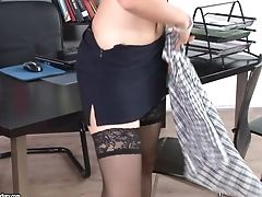 Office Threesome With Red-haired Assistant Mira Sunset