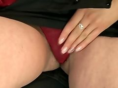Matures With Saucy Sub Strips Down To Her Naked Skin To Have Fun With Her Raw Crevasse Naked