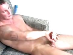 Activeduty Str8 Army Hunk Craig Plays With His Man Meat