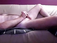 Dutch Dude Wanking On The Couch