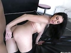 Massive Aggressive Black Dick Penetrates All Fuck-holes Of Slender Cougar India Summer