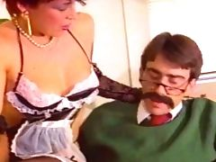 Matures Antique Breezy Provides Mustached Dude With A Good Blow-job