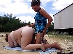 Tanning Wifey Gets Fuck By Ashley & Internal Ejaculation While Spouse See