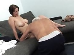 Big Breasts Chrissie Gets Nude For An Old Man