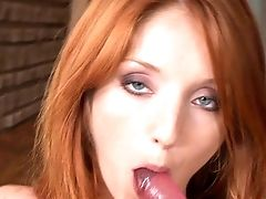 Ginger-haired Gets Naked And Fucks Herself With Tool