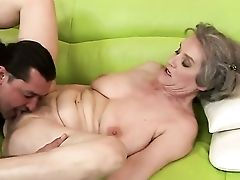 Amazing Grandmother Aliz Showcasing Her Experienced Sucking Abilities