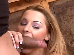 Blonde Cindy Hope Klaudia Pleases Dudes Sexual Desires And Then Gets Her Nice Face Covered In Love Juice
