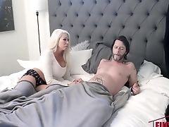 Blake Valentine In Sneaky And Sleepy Step Orgy