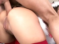 Christmas Double Penetration With Assfuck Stunner Angelica Heart